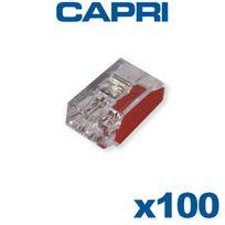Capri - Bornes automatiques 2 entrées Rouge Boite de 100 pièces