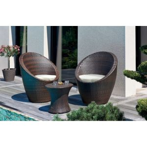 dcb garden salon de jardin r sine tress e chocolat. Black Bedroom Furniture Sets. Home Design Ideas