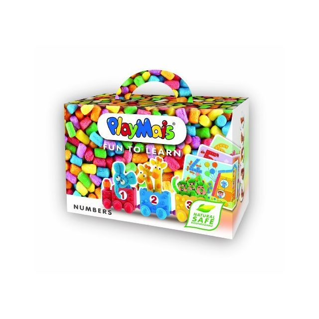 Playmais Fun to Learn Numbers - Arts and Crafts Building Box - Educational Toys