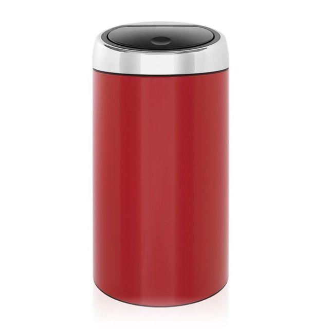Brabantia Poubelle Touch Bin®, 45 litres - Lipstick Red