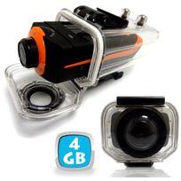 Yonis - Caméra sport embarquée étanche écran Pro Hd 1080P Grand angle 4 Go