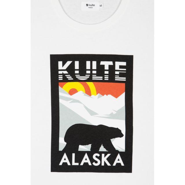 KULTE T-shirt unisexe Alaska blanc Le tee-shirt unisexe Alaska a un toucher très doux dû au coton premium qui le compose. Kulte propose avec ce t-shirt blanc, un produit graphique avec un motif coloré avec des finitions de qualit&eacut