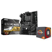 AMD - Processeur Ryzen 5 1600, + Wraith Spire 65W cooler + Carte mère MSI B350 PC MATE - Socket AM4 - Ryzen