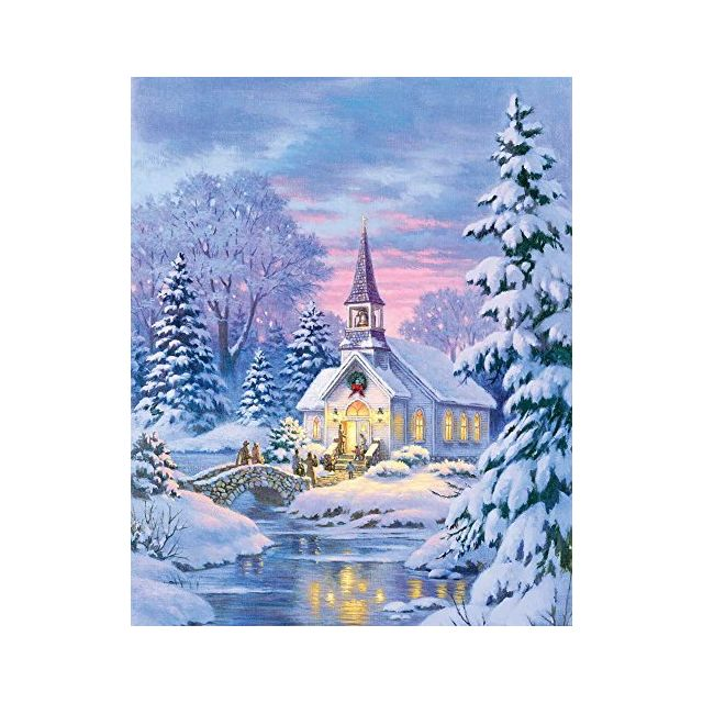 Springbok Puzzles - Village Chapel - 1000 Piece Jigsaw Puzzle - Large 30 Inches by 24 Inches Puzzle - Made in Usa - Unique Cut Int