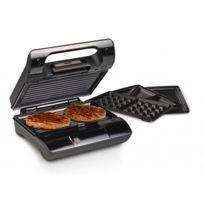 Princess - Grill 3 en 1 - Multifonction : gaufres, sandwichs, panini, croque-monsieur et grill