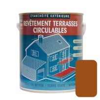 Procom - Peinture d'étanchéité imperméabilisante pour terrasse circulable, balcons, sols extérieurs, bétons, plusieurs coloris-10 litres-Terre cuite
