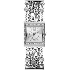 Guess - Promo Montre Bracelet Multichaîne Argenté Silk W01470L1 - Femme