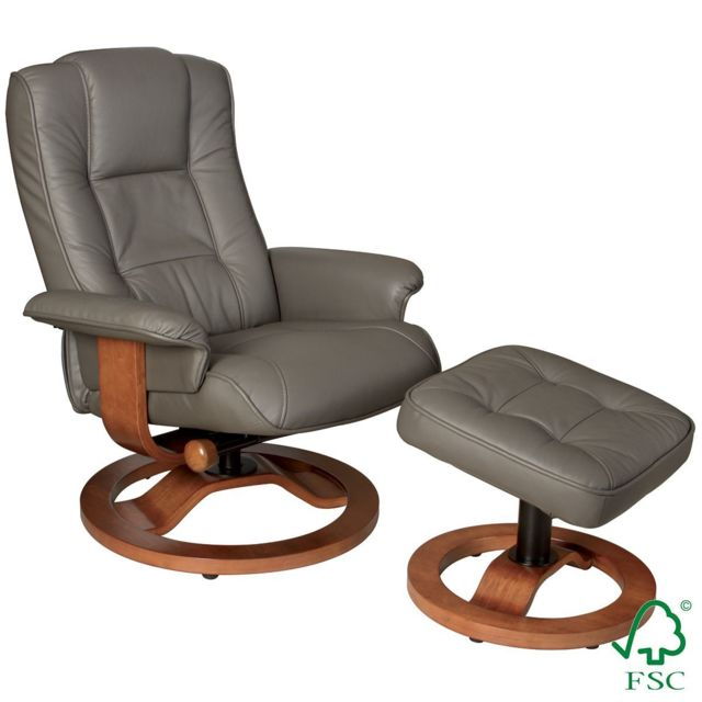 Altobuy Helion - Fauteuil Relax Taupe