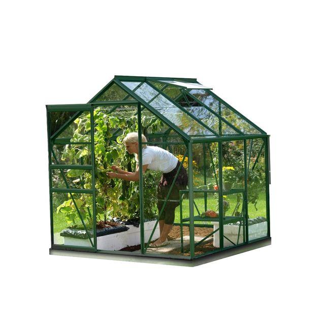 Lams serre de jardin en verre v nus 3 80 m base - Serre de jardin en verre pas cher ...