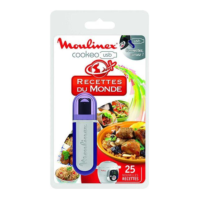 MOULINEX clé usb 25 recettes du monde pour cookeo ce7021 - xa600100