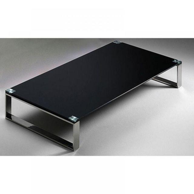 Inside 75 Table basse Miami en verre noir