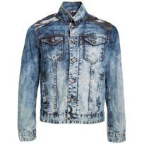 Gov Denim - Veste en jean urbain Bleu Vd_1029_BL XL