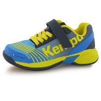 Kempa - Attack Velcro bleu, chaussures indoor enfant