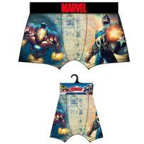 Marvel Comics - Marvel Boxer Homme Microfibre Avengers Bleu Jaune