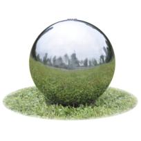 Rocambolesk - Superbe Fontaine de jardin sphère avec Led en acier inoxydable 40 cm neuf