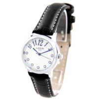Wave Femme - Montre Femme Cuir Noir Diamants Cz Wave 178