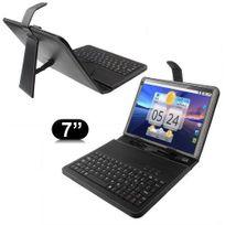 Yonis - Housse clavier universelle tablette tactile 7 pouces support étui Noir