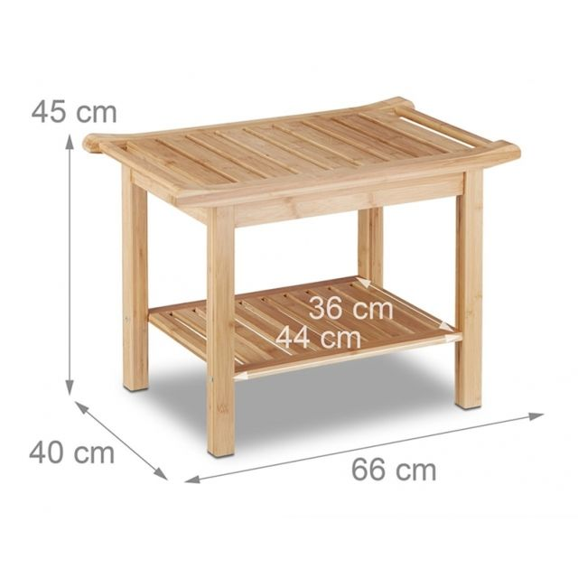 Helloshop26 tabouret en bambou table basse d 39 appoint Tabouret salle de bain