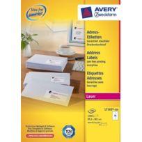 Avery - Zweckform J7163-100 Paquet de 100 feuilles d'étiquettes à adresses pour enveloppes 99,1 x 33,9 mm Import Allemagne