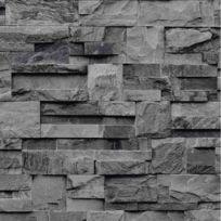 Open En Ville - Papier peint Pierre de parement grise Rouleau : 10 m
