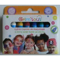 Grim Tout - Crayons de maquillage enfant Coul. basiques 6 pièces - Grim'tout