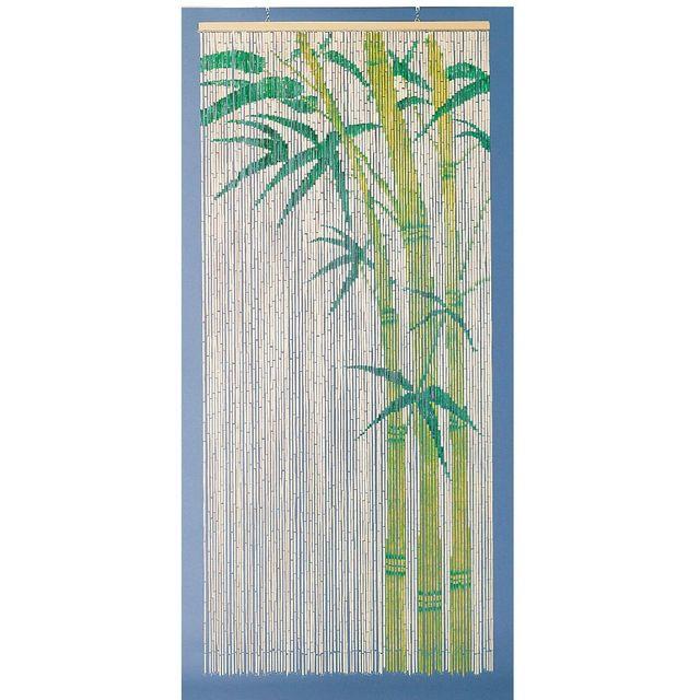 Morel rideau de porte bambou peint motif bambou 90x200cm pas cher achat vente rideaux de - Rideaux de porte pas cher ...