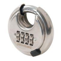 Silverline - Cadenas à code 4 chiffre en acier inoxydable