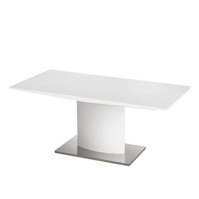 Inside 75 Table extensible Sina design blanche 180x90 cm