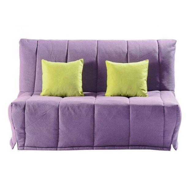 Inside 75 Canapé Bz convertible Lou violet 40 200cm matelas confort Bultex inclus
