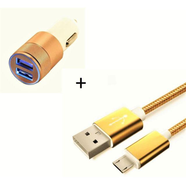 Mini Double Adaptateur Metal Allume Cigare USB pour