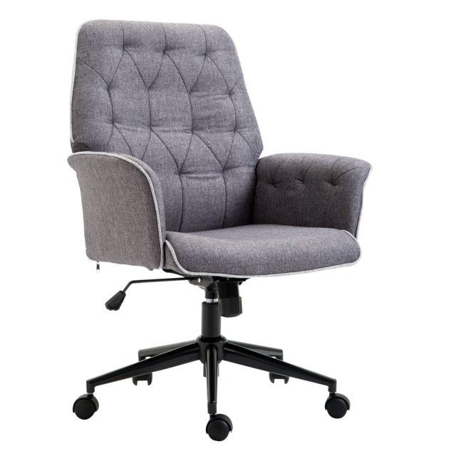 HOMCOM Fauteuil de bureau chaise de bureau hauteur