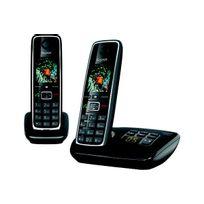 Gigaset - Téléphone répondeur sans fil duo C530A Noir