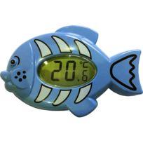 Lbs - Thermomètre électronique bain et chambre poisson bleu
