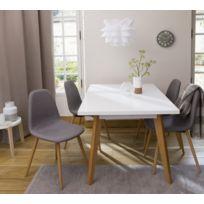 CARREFOUR HOME - Lot de 2 chaises - Gris - UDC807 SW-2