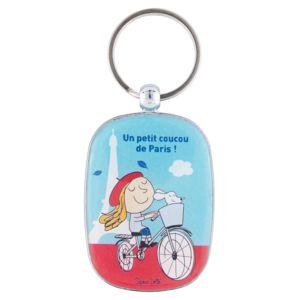 Derrière La Porte Porteclés De Cadenas Vélo Original Un Petit - Porte clé femme original