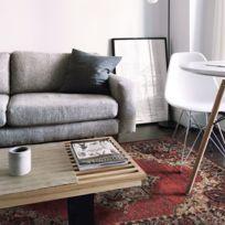 mon beau tapis tapis vintage inoutdoor medaillon 160x230 rouge - Tapis 160x230