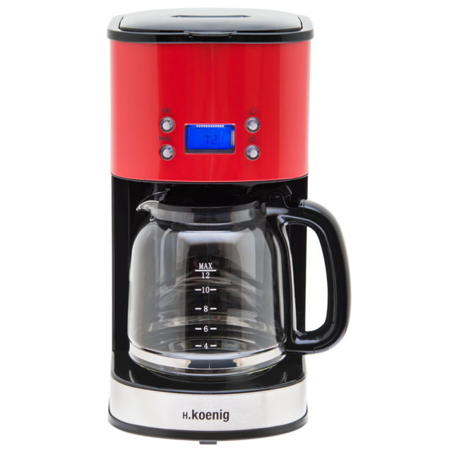 H.Koenig Cafetière Programmable Rouge MG30 - Rouge