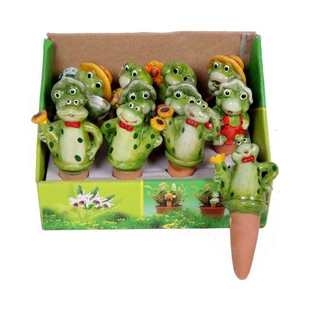 Set de 12 humidificateur grenouille pour plantes - 16 cm