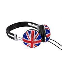 Soundlab - A081A - Casque Stéréo Drapeau Royaume-Uni Bling-bling