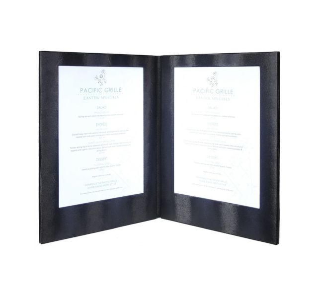 Securit Carte Menu Led Coloris noir 2 A4
