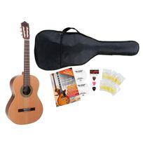 Antonio Calida - Gc201S 7/8 guitare de concert set de débutant, y compris un set d'accessoires