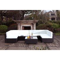 mobilier jardin resine tressee blanc - Achat mobilier jardin resine ...