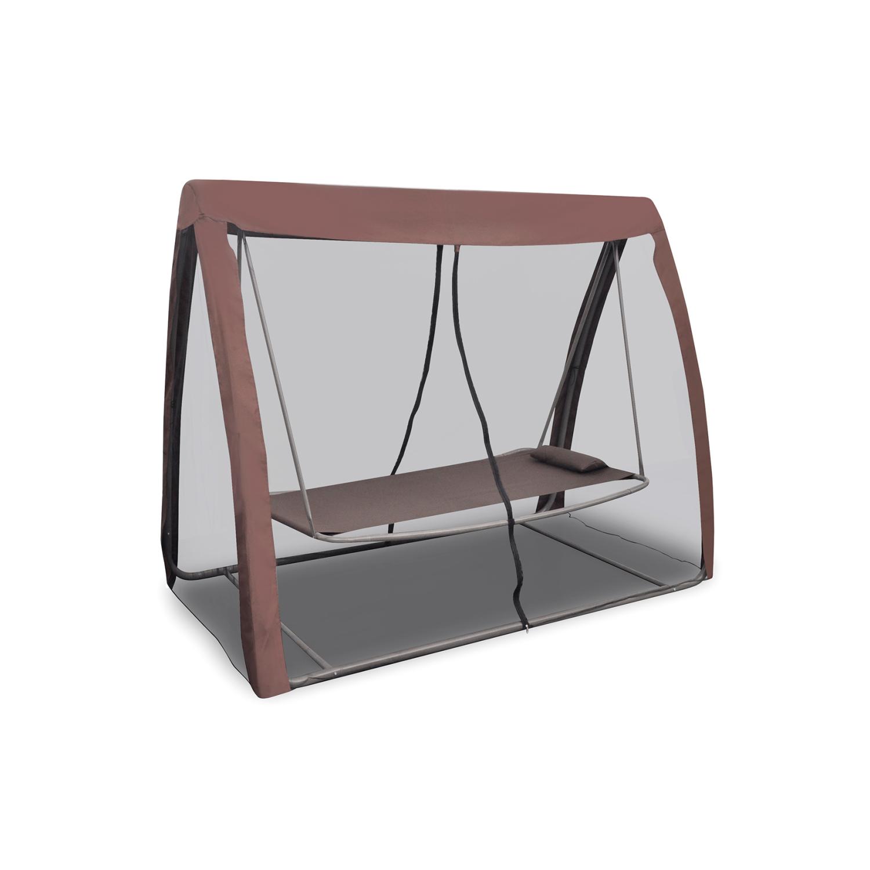 top prix superbe lit balancelle de jardin avec moustiquaire neuf pas cher achat vente. Black Bedroom Furniture Sets. Home Design Ideas