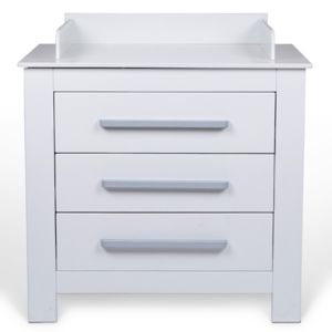 infantastic commode langer blanche avec bords de s curit pas cher achat vente table. Black Bedroom Furniture Sets. Home Design Ideas