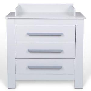 infantastic commode langer blanche avec bords de. Black Bedroom Furniture Sets. Home Design Ideas