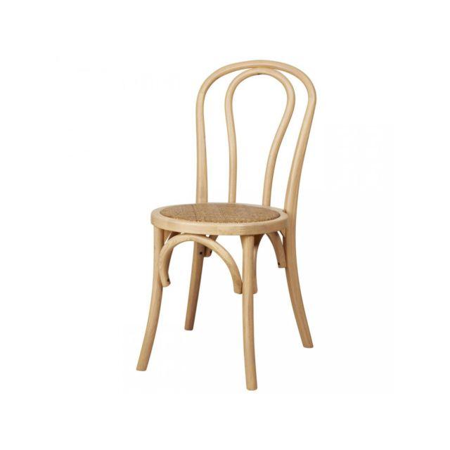 Bobochic Chaise en bois Montmartre Bois naturel pas cher