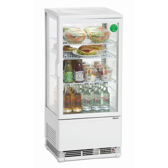 Bartscher Mini vitrine refrigeree 78 L, blanche