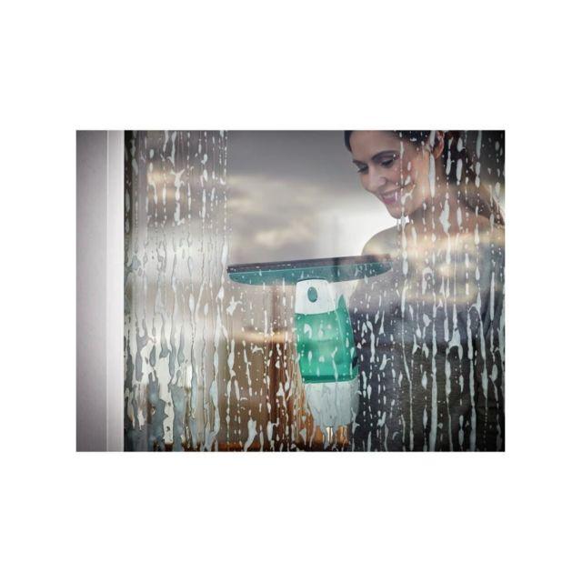 Leifheit - 51000 Kit Aspirateur lave-vitres Dry & Clean - Aspiration a 360° - 28 cm