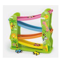 Milly Mally - Toboggan avec voitures en bois enfant bébé 2ans+ | Multicolore