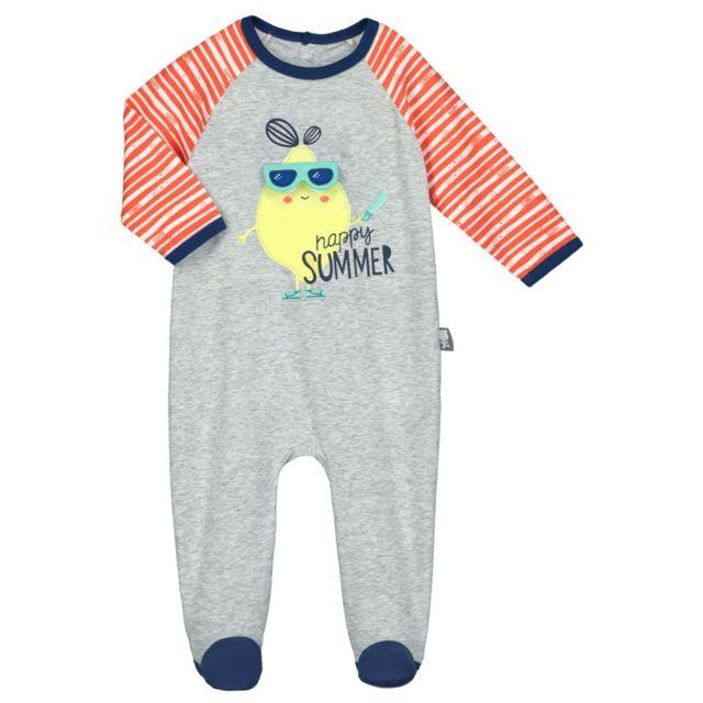 95021518cfbdc Petit Beguin - Pyjama bébé Happy Citron - Taille - 3 mois - pas cher ...